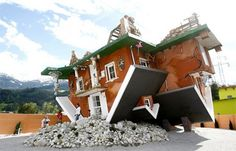 Upside down house in Terfens, Austria
