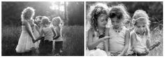 Children's Photography / little girls pose idea / black and white photography / natural light