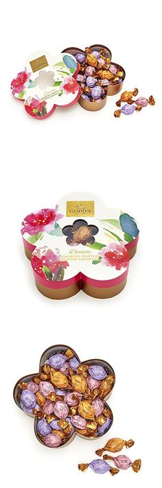 Sugar free mothers day sunshine in a box candy gift basket filled godiva chocolatier flower gift box filled with individually wrapped chocolate truffles 32 pc negle Gallery