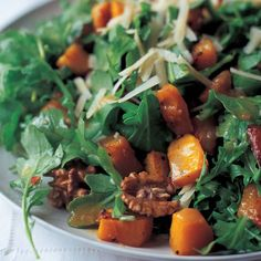 Roasted Butternut Squash Salad with Warm Cider Vinaigrette - Barefoot Contessa