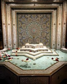 Home Design Inspiration Moroccan Tile Pool Fountain Hot Tub Tile Design Moroccan Design, Moroccan Style, Islamic Architecture, Architecture Design, Fountain Design, Pool Fountain, Morrocan Decor, Arabic Decor, Modern Pools