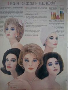 1961 Vintage Merle Norman Cosmetics Portrait Colors Beauty Ad   eBay