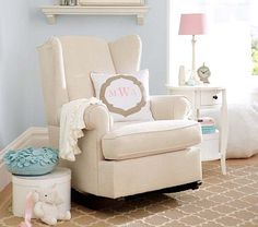 This is my favorite so far. Wingback Convertible Rocker #PotteryBarnKids