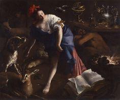 The Sorceress by Bartolomeo Guidobono, circa 1690