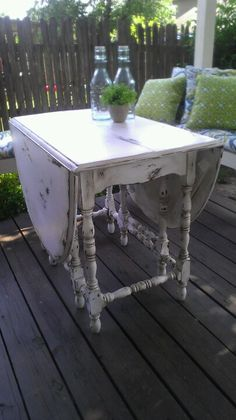 Drop leaf table I just finished looking great!