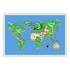 THE WORLD MAP SUPPER MARIO STYLE