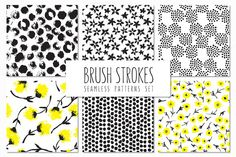 Brush Strokes. Seamless Patterns v.5 by Curly_Pat on Creative Market