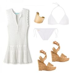 If it's French femininity you're looking try this Jane Birkin-inspired crochet cover-up.