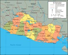 Where Is El Salvador | El Salvador Map - El Salvador Satellite Image - Physical - Political