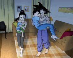 Lol I love how Goku just picks up and practically grown Gohan, hahaha