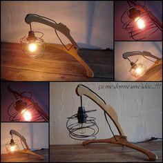lampe originale à partir de cintres