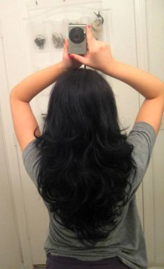 Short Layers For Long Hair Back View