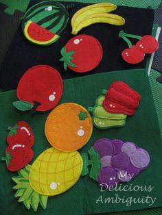 felt board flat fruit