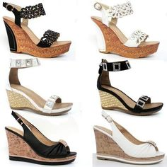 LADIES WEDGE SANDALS WOMENS HIGH HEELS FANCY SUMMER DRESS PARTY BEACH SHOES SIZE