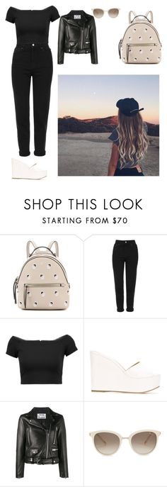 """""""Untitled #2285"""" by laiaespimonter ❤ liked on Polyvore featuring Fendi, Topshop, Alice + Olivia, Sergio Rossi, Acne Studios, Chopard and Salt Water Sandals"""