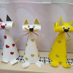Crafts for kids - 20 random DIY ideas Toilet Paper Roll Crafts, 3d Paper Crafts, Paper Crafts For Kids, Easy Crafts, Diy And Crafts, Arts And Crafts, Diy Paper, Animal Crafts For Kids, Diy For Kids