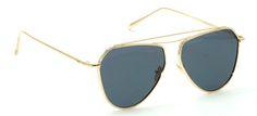 Buy Now I-Gog Sunglasses Unisex Golden Large Retro Aviator IG-812A-GL-BL Online : India , Germany