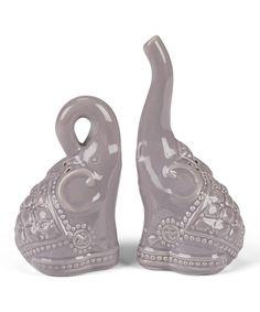 Love this Gray Sitting Elephant Salt & Pepper Shakers by Abbott on #zulily! #zulilyfinds Cute $6.99