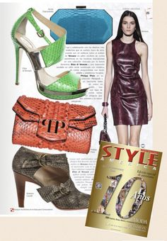 Annie Handbags turquoise minaudière featured in Style America Magazine!