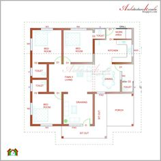 Kerala Home Design Floor Plan And Elevation on kerala villa elevation, kerala model house design, kerala house floor plans, kerala house plans and elevations,
