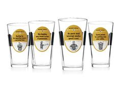 """I kind of love these """"fouls"""" written clearly on glasses"""