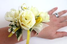 Faux Wedding Corsage  Anniversary Corsage   by WeddingsAndWreaths
