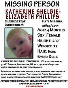 Please RePin! She has been missing since June and she needs to be found! <3