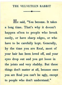 Velveteen Rabbit Life Lesson