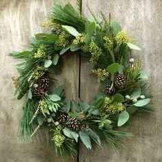DIY Christmas wreath fir cones spruce christmas decoration natural materials