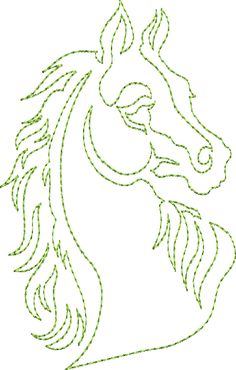 Horse Song - Continuous Single Line Quilting. So pretty! Someday; my wish.