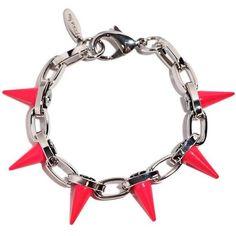Joomi Lim - Punk carnival spike bracelet ($128) ❤ liked on Polyvore featuring jewelry, bracelets, bracelet bangle, neon jewelry, spike jewelry, punk rock jewelry and punk jewelry