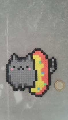 Pusheen cat Hama beads