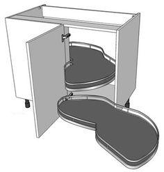 1000 images about kitchen corner unit mechanisms on for Kitchen corner base units 800mm