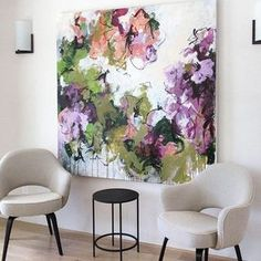 The Sea Grape Tree on wall, abstract floral painting by Carlos Ramirez. Abstract Flowers, Abstract Art, Modern Art, Contemporary Art, Art Abstrait, Art Moderne, Abstract Expressionism, Painting Inspiration, Art Inspo