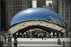 Anish Kapoor's Cloud Gate in Chicago, IL Illinois, Anish Kapoor, Chicago, Design Competitions, Pictures Of You, Lovers Art, Picture Photo, Reflection, Beautiful Places