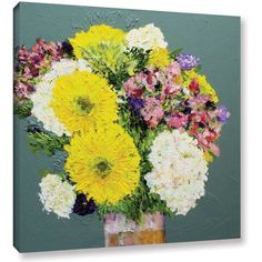 ArtWall Allan Friedlander Beautiful Day Gallery-Wrapped Canvas, Size: 18 x 18, Pink