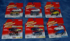 Johnny Lightning ~ Thunder Wagons ~ Woodys and Panels ~ Lot of 6  #JohnnyLightning