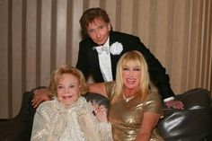 Lady Blue Eyes - Barbara Sinatra, Suzanne, and B. Suzanne Somers, Barry Manilow, Blue Eyes, The Man, Besties, Take That, Couple Photos, Celebrities, Celebrity