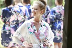 SALE Bridesmaid Gift Bridesmaid Robe Kimono by OMphiliada on Etsy