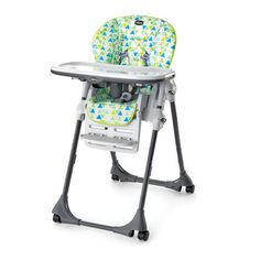 Designed in Italy, the Polly® Highchair from Chicco features an the slimmest fold in its class and easily adjusts to grow with your child!  Polly Highchair - Fresco