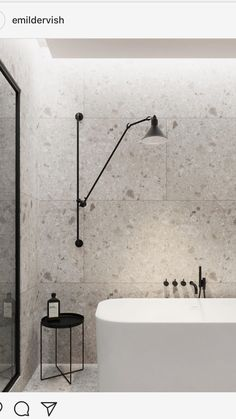 Terrazzo tiles used in bathroom renovation showing classical comeback that bring an artistic retro statement in your home Image 50 - SHAIROOM. Black Bathroom Taps, Simple Bathroom, Modern Bathroom, Master Bathroom, Bathroom Wall, Bathroom Ideas, Bathroom Remodeling, Black Bathrooms, Modern Wall