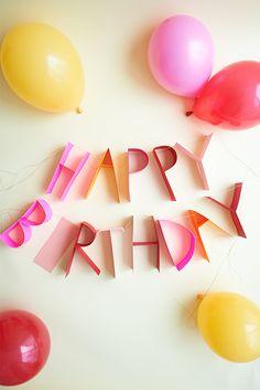 3D Birthday Banner DIY - Oh Happy Day!
