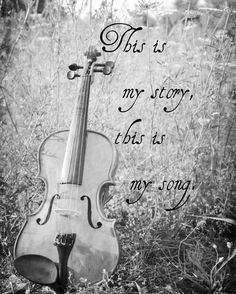 """This is My Song."" Hymn Print Violin Nature Art Music Black by KimberosePhotography, $28.00"