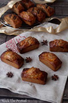 Mini-pains d'épices aux oranges confites et noix de macadamia