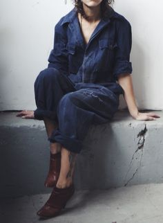 vintage french coveralls