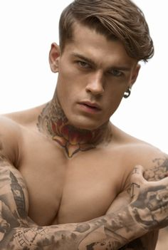 stephen james 0001 Stephen James Shows Off His Tattoos for Risbel Magazine