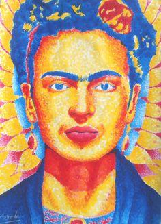 Jonathan G. Garcia Ayala Frida Kahlo 33.5 x 24 cm 22 de septiembre de 2016  Acrílico sobre papel Síganme en instagram como jonathan.garcia.ayala.art 😉😌