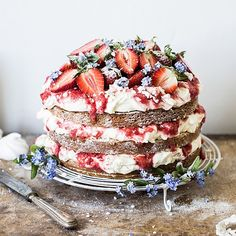 Eton Mess Cake for Bea's cookbook 2nd birthday! | Bea's cookbook