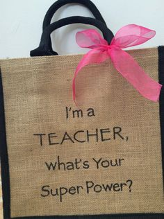 New Teacher Graduation Gift, Newly Qualified Teacher Tote book bag can be…