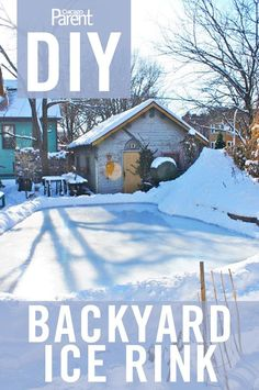 Simple steps to build your own backyard rink. I saw kids playing hockey on one with a bonds fire to warm up and thought their parents must be awesome!